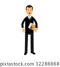 businessman, black, vector 32286668