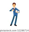 businessman, vector, suit 32286714