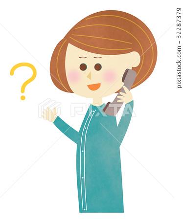 전화로 질문 - 여성 32287379