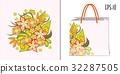 floral, pattern, bag 32287505