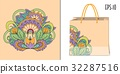 mandala, pattern, bag 32287516