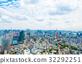 View from above on Tokyo Tower with skyline in 32292251