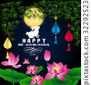 happy mid autumn festival chinese background 32292523
