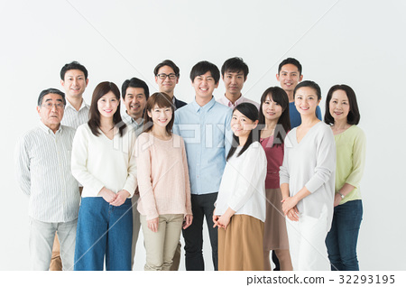 大組微笑(白色背景) 32293195