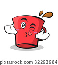Kissing face red glass character cartoon 32293984