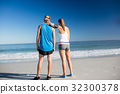 Friends looking at the sea 32300378