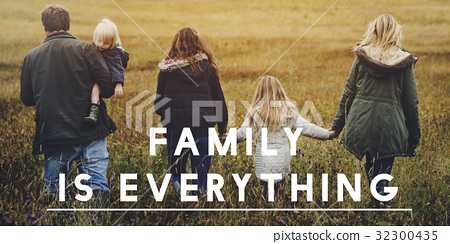 Family Together Outdoors Field Landscape 32300435