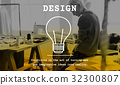 Creative Thinking Lightbulb Icon Sign 32300807