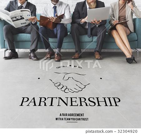 Partnership Teamwork Support Cooperation Achievement Organization Handshake Graphic 32304920