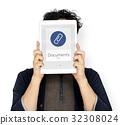 Paper Clip Mail File Attachment Graphic 32308024