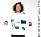Data Information Sharing File Folder Graphic 32308745