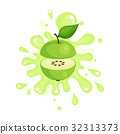 green, apple, color 32313373