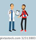 patient doctor vector 32313883