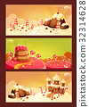 Set cartoon banners with a sweet landscape 32314628