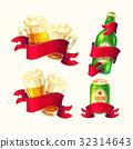 啤酒 玻璃 卡通 32314643