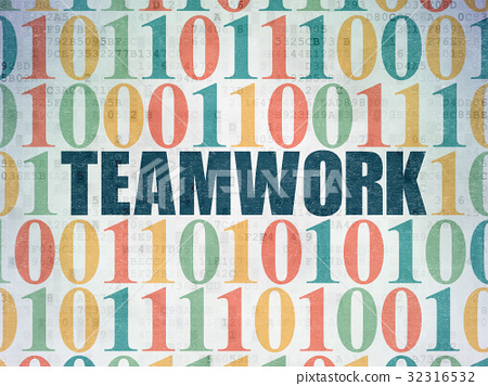 Business concept: Teamwork on Digital Data Paper 32316532