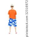 sunny man wearing beach short  and Flip Flops 32316972