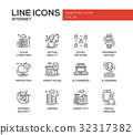 icon, vector, network 32317382