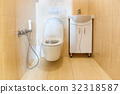 Toilet bathroom interior 32318587