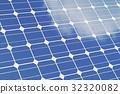 Solar panels isolated om white background. Blue 32320082
