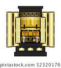 buddhist altar, vector, vectors 32320176