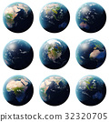 3D rendering Planet Earth set, globe from 32320705
