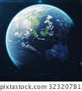3D Rendering Planet earth from the space at night 32320781