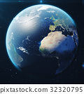 3D Rendering Planet earth from the space at night 32320795