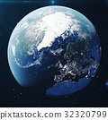 3D Rendering Planet earth from the space at night 32320799
