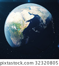 3D Rendering Planet earth from the space at night 32320805