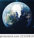 3D Rendering Planet earth from the space at night 32320819