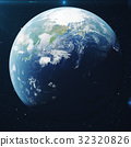 3D Rendering Planet earth from the space at night 32320826