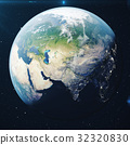 3D Rendering Planet earth from the space at night 32320830