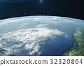 3D Rendering Planet earth from the space at night 32320864