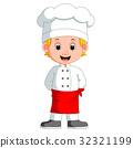 男孩 卡通 大厨 32321199