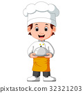 boy chef cartoon 32321203
