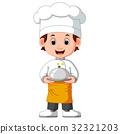 男孩 卡通 大厨 32321203