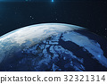 3D Rendering Planet earth from the space at night 32321314
