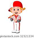 棒球 男孩 卡通 32321334