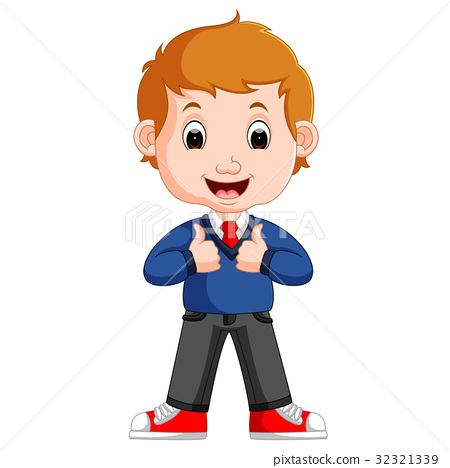 Cute boy cartoon good posing 32321339