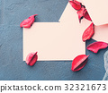 Blank paper note for Valentine's day 32321673