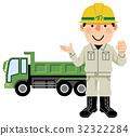 다양한 직업 덤프 트럭 운전사 32322284