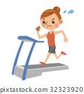 달리기를하는 여성 32323920