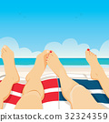 Couple Relaxing Beach 32324359