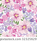 Floral seamless pattern. Flower background 32325629