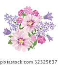 Flower bouquet. Floral summer frame. Greeting card 32325637