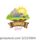 Vector summer campinng concept illustration 32325664