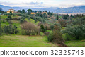 above view of in Florence city suburb in winter 32325743