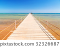 Pier on the beach of Red Sea in Hurghada, Egypt 32326687