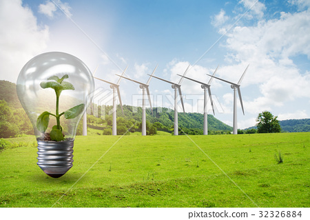 Alternative energy concept with windmills 32326884